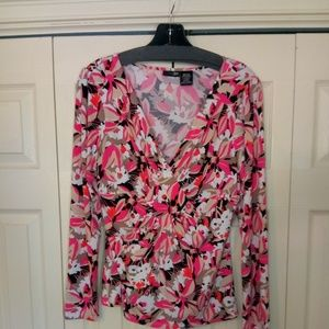 east 5th Long Sleeve Floral Print Blouse